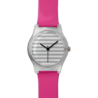 Grey Horizontal Stripes Wristwatch
