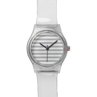 Grey Horizontal Stripes Wristwatches