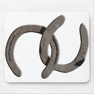 Grey Horse Shoes Mouse Pad