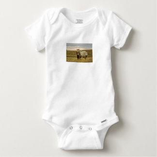 Grey Horse with Baby Baby Onesie