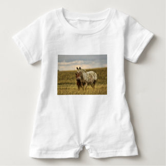 Grey Horse with Baby Baby Romper