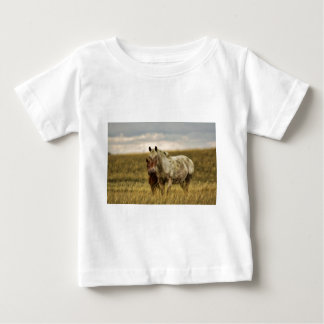 Grey Horse with Baby Baby T-Shirt
