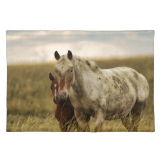 Grey Horse with Baby Placemat