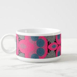 Grey Hot Pink Abstract Chili Bowl