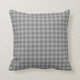 Grey Houndstooth Throw Pillow