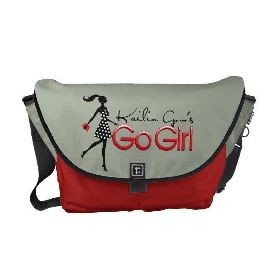 Grey Kailin Gow's Go Girl Messenger Bag