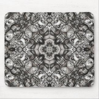 Grey Kaleidoscope Mouse Pad