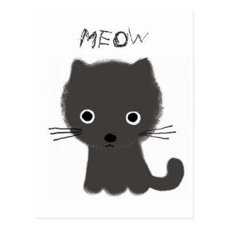 Grey Kitten Meow Postcard