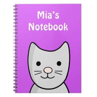 Grey Kitty Cat Notebook