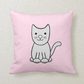 Grey Kitty Cat Pillow
