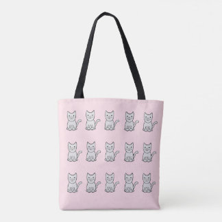 Grey Kitty Cats Tote Bag