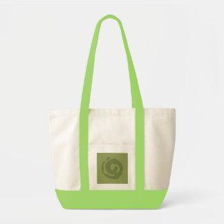 Grey Koru On Colored BG Tote Bag