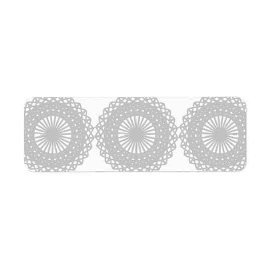 Grey Lace Design Pattern.