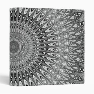Grey mandala 3 ring binders