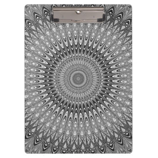 Grey mandala clipboard
