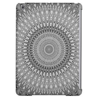 Grey mandala iPad air cases