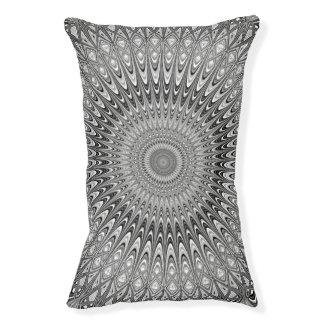 Grey mandala pet bed
