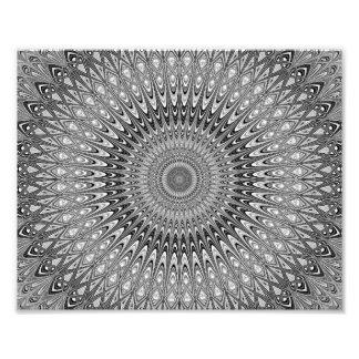 Grey mandala photo print
