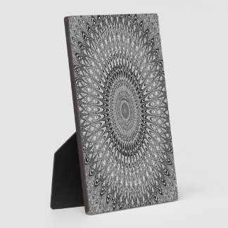 Grey mandala plaque
