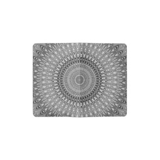 Grey mandala pocket moleskine notebook