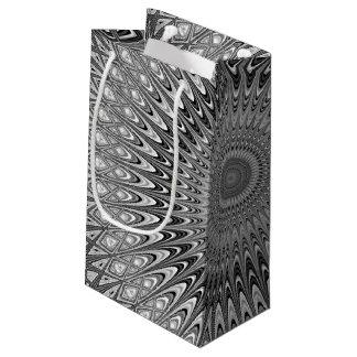 Grey mandala small gift bag