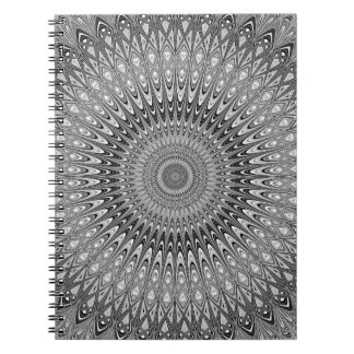 Grey mandala spiral notebook