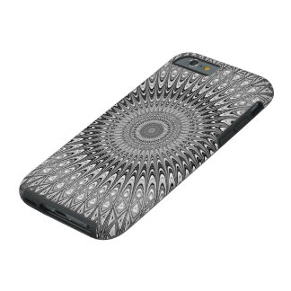 Grey mandala tough iPhone 6 case