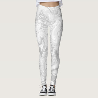 Grey marble abstract effect leggings. leggings