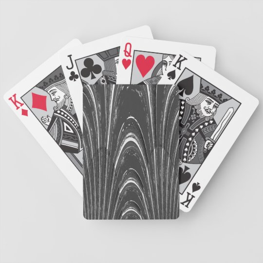 Grey Marble Texture Poker Deck of Cards
