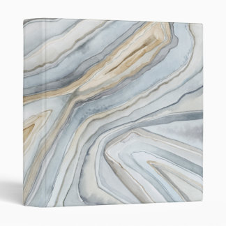 Grey Marbled Abstract Design Binder