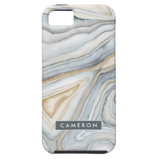 Grey Marbled Abstract Design Case For The iPhone 5