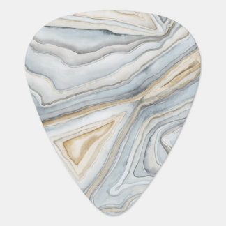 Grey Marbled Abstract Design Pick