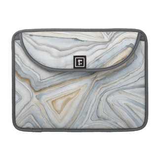 Grey Marbled Abstract Design Sleeve For MacBook Pro