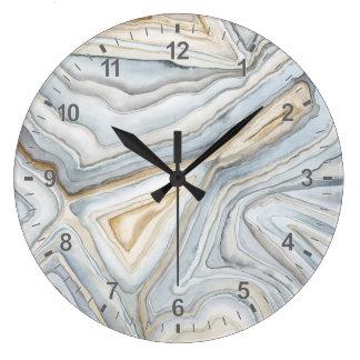 Grey Marbled Abstract Design Wallclocks