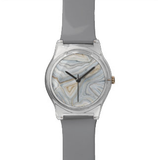 Grey Marbled Abstract Design Watch