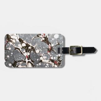 Grey marbled paper bag tag