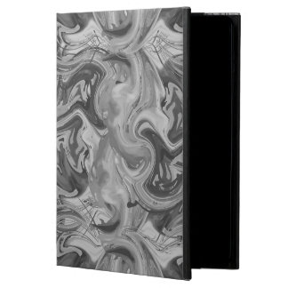 Grey marbled rich texture, ebru technique case for iPad air