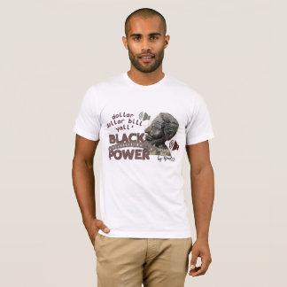 grey/maroon Black community Power print T-Shirt