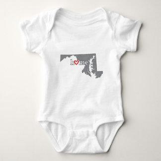 Grey MARYLAND Home & Open Heart Baby Bodysuit