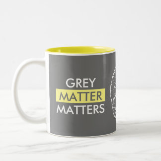 Grey Matter Matters Two-Tone Coffee Mug