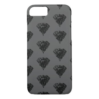 GREY MELTING DIAMONDS iPhone 7, Barely There iPhone 7 Case
