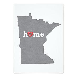Grey MINNESOTA Home & Open Heart Card