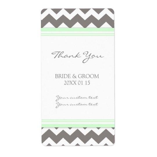Grey Mint Chevron Wedding Labels