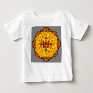 GREY MONARCH BUTTERFLY & YELLOW SUNFLOWERS BABY T-Shirt