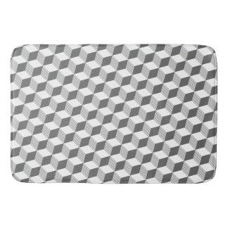 Grey Monochrome Diamond Shapes Bath Mat