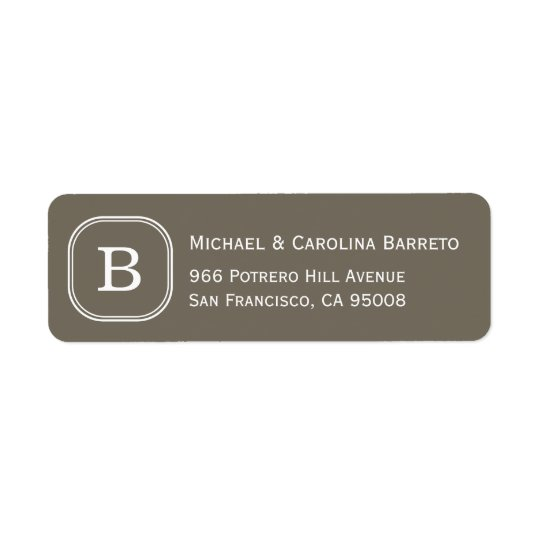 Grey Monogram Labels