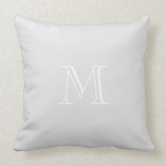 Grey Monogram Throw Pillow