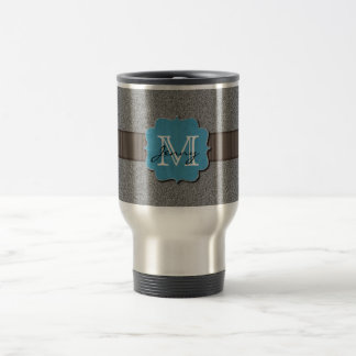 Grey Monogrammed Travel Mug