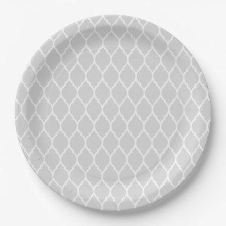 Grey Moroccan paper plates