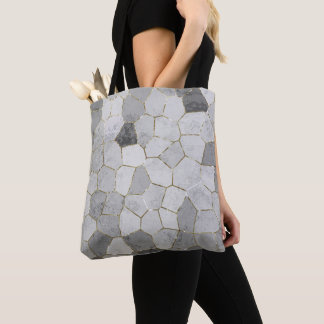 Grey Mosaic Tote Bag